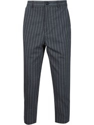 Y Project Cropped Suit Trousers Grey