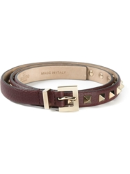 Valentino Garavani 'Rockstud' Belt Brown