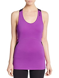 Reebok T Strap Back Tank Top Purple