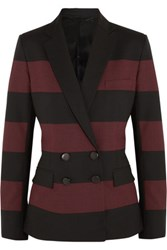 Jonathan Saunders Juliette Striped Wool Blazer Burgundy
