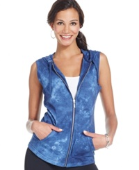 Style And Co. Sport Tie Dye Hooded Vest