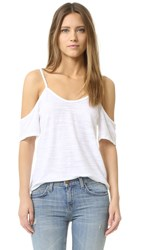 Lna Off Shoulder Tee White