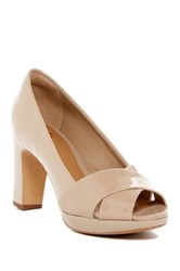 Clarks Jenness Cloud Peep Toe Pump Wide Width Available Beige