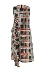 Marni Scribble Plaid Dress Black