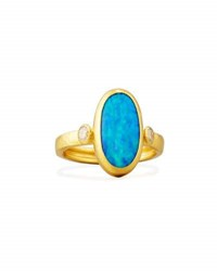 Gurhan Oval Opal Cabochon Ring In 24K Gold