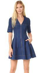 Stella Mccartney Zip Denim Dress Blu Notte