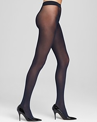 Hue Seamless Opaque Tights Navy