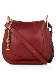 Chloe Hayley Small Leather Cross Body Bag Dark Red