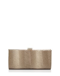 Sondra Roberts Metallic Wave East West Clutch Gold