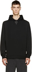 Alexander Wang Black Leather Detail Hoodie