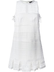 Diesel Black Gold Embroidered Sleeveless Dress White