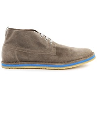 Paul And Joe Kobe Blue Sole And Grey Suede Chukka