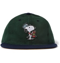 Tsptr Snoopy Appliqued Wool Baseball Cap Green