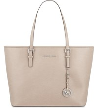 Michael Michael Kors Jet Set Travel Leather Tote Ballet