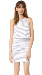 Sundry Stripe Sleeveless Dress White