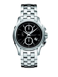 Hamilton Jazzmaster Stainless Steel Automatic Chronograph Bracelet Watch Silver Black