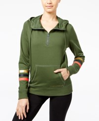 Jessica Simpson The Warm Up Juniors' Half Zip Hoodie Only At Macy's Riffle Green