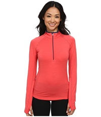 Icebreaker Zone Long Sleeve Half Zip Grapefruit Night Night Women's Workout Pink