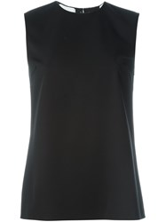 Ralph Lauren Inverted Pleat Tank Top Black