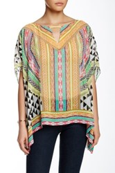 Hale Bob Flutter Sleeve Tunic Orange