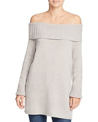 Rebecca Minkoff Erid Off The Shoulder Sweater Grey