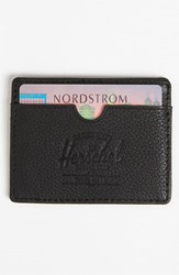 Men's Herschel Supply Co. 'Charlie' Leather Card Case Black