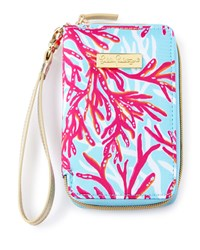 Coral Print Tiki Palm Iphone 6 Wristlet Lilly Pulitzer Multi Colors