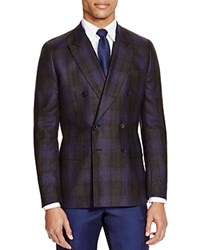 Paul Smith London Double Breasted Plaid Slim Fit Sport Coat