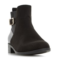 Head Over Heels Pippa Buckle Ankle Boots Black