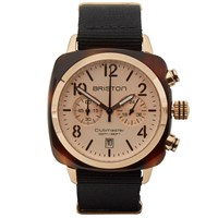 Briston Clubmaster Chronograph Watch Tortoise Rose Gold And Black