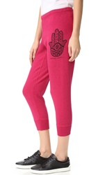 Spiritual Gangster Hamsa Eye Dharma Pants Goji Berry