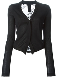 Ann Demeulemeester Embroidered Back Cardigan