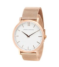 Larsson And Jennings Lugano 40Mm Rose Gold Plated Watch