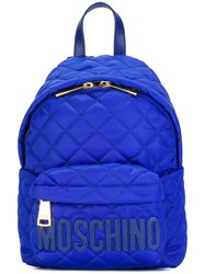 Moschino Quilted Backpack Blue
