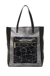 L.A.M.B. Ibis Large Leather Tote Black