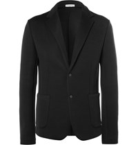 Balenciaga Black Cotton Blend Jersey Blazer