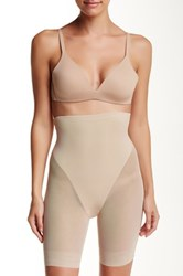 Tc Fine Shapewear High Waist Sheer Thigh Slimmer Beige
