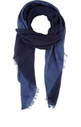 Destin Dyed Gauze Scarf Blue