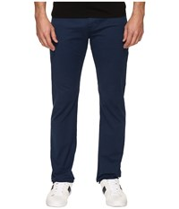 Ag Adriano Goldschmied Matchbox Slim Straight Twill Pants In Nocturnal Nocturnal Men's Casual Pants Black