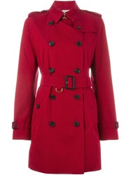 Burberry 'Kensington' Trench Coat Red
