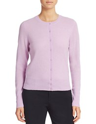 Lord And Taylor Plus Crewneck Cashmere Cardigan Lavender