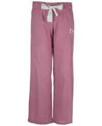 Concepts Sport Women's Louisville Cardinals Tradition Gingham Sleep Pants Raspberry White