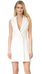 Nicholas Textured Crepe Sleeveless Dress Ivory