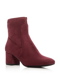 Kenneth Cole Nikki Mid Heel Booties Wine