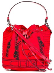 Moschino Trompe L'oeil Backpack Red