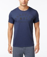 Kenneth Cole Reaction Men's Downtime T Shirt Indigo Heather