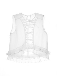 Isabel Marant Vienna Lace Front Silk Top