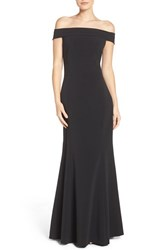 Laundry By Shelli Segal Women's Stretch Crepe Fit And Flare Gown
