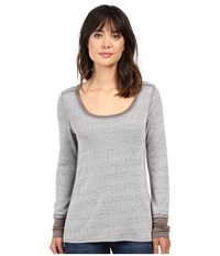Project Social T Brighton Thermal Long Sleeve Ash Women's Long Sleeve Pullover Gray