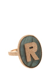 Carolina Bucci R' Initial Ring R Gold
